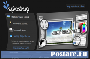 SplashUp: sostituto di Photoshop online