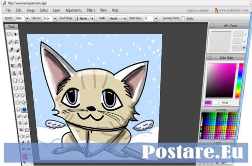 Sumopaint creare disegni online senza photoshop postare eu for Programma di disegno software