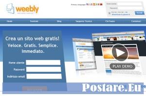 Weebly.com costruire siti web gratis