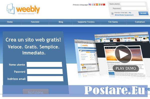 Creare un sito online con weebly personale aziendale for Sito web piano gratuito